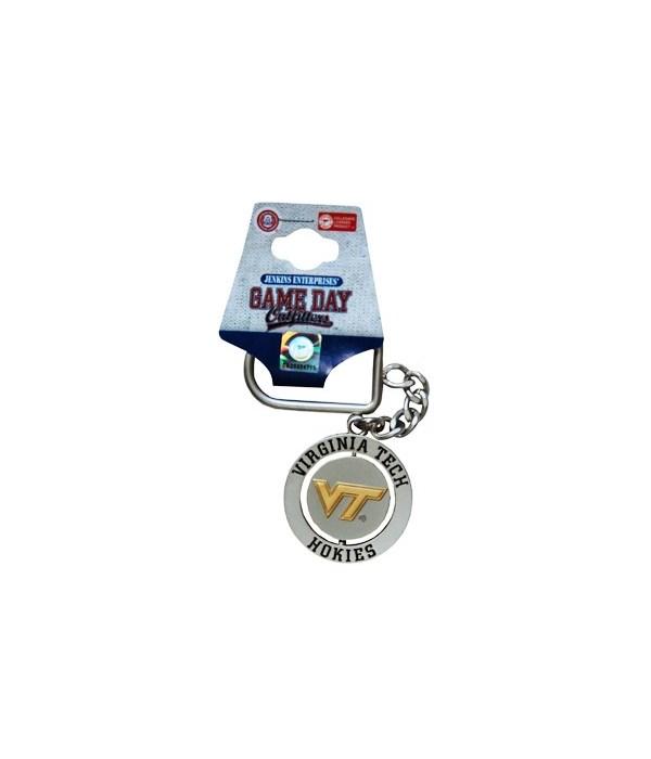 VA-T Keychain Spinner Nickel