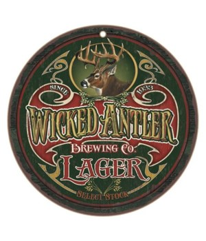 "Wicked Antler Brewing Co. 10"" D"