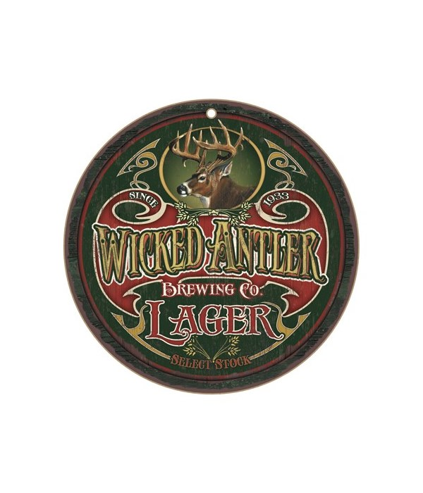 """Wicked Antler Brewing Co. 10"""" D"""