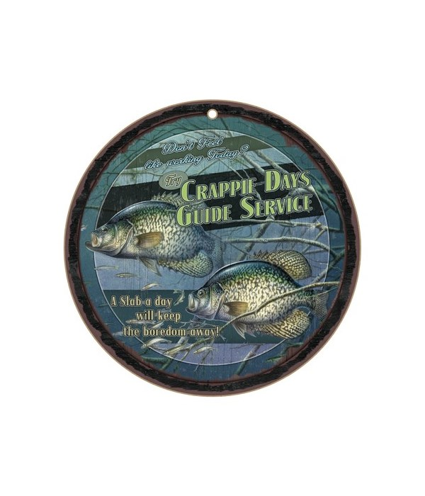 """*Crappie Days Guide Service 10"""" D"""