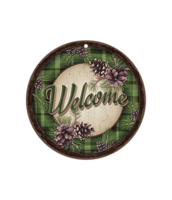 """Welcome Pine Cones 10"""" D"""