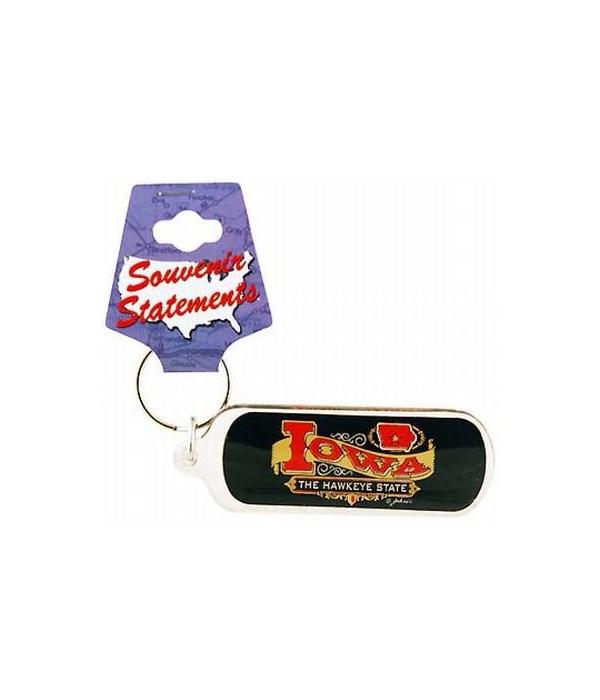 Iowa Keychain Lucite Banner