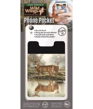 Whitetail Deer Pond Phone Pocket