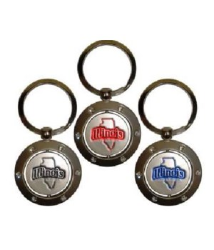 IL Keychain Spinner Rhinestones