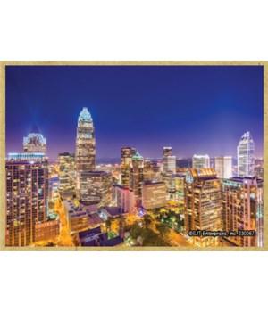Charlotte, NC Night Skyline Downtown