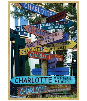 Charlotte, NC Sign Post Arrows-Miles