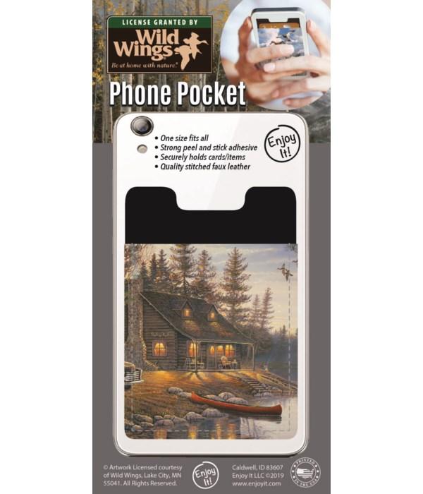 Lake Cabin Phone Pocket