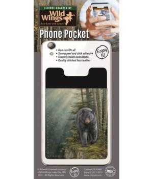 Black Bear Phone Pocket