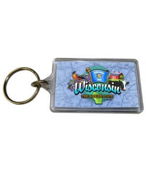 WI Keychain Lucite Elements