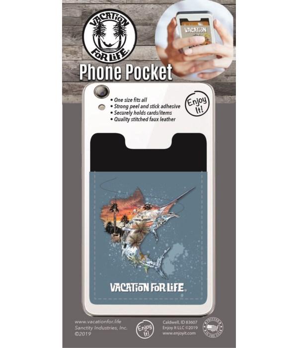 Sailfish Scene Phone Pocket
