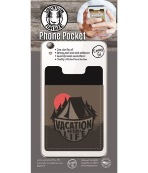 Tent Scene Phone Pocket