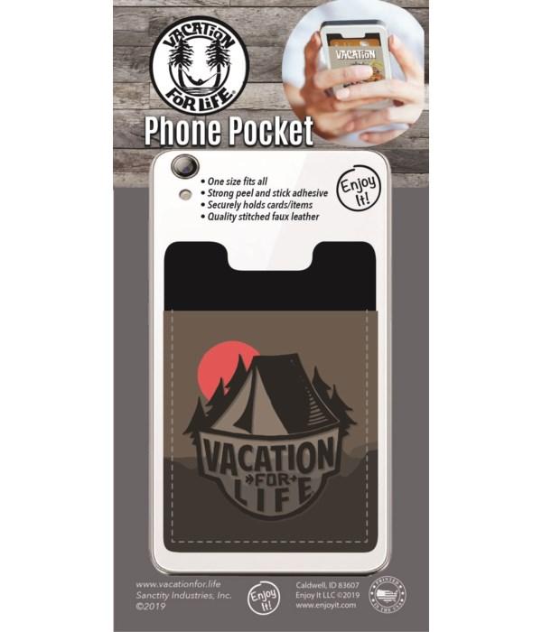 Tent Scene Phone Pocket