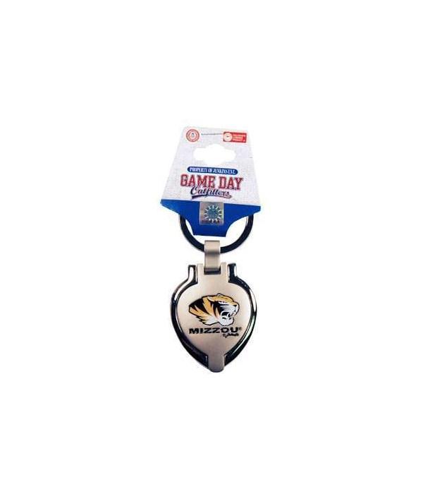 U-MO Metal Heart Locket Keychain