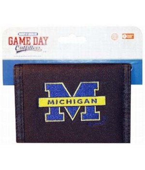 U of M Mens Wallet Bifold Logo