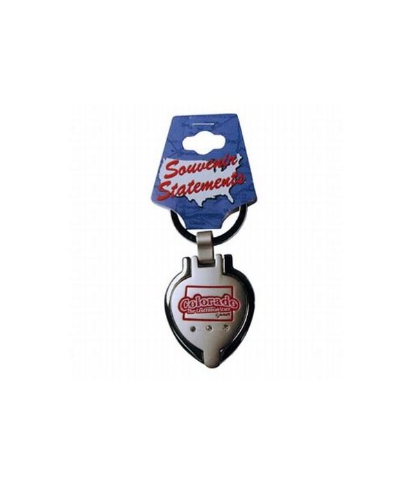 CO Keychain Metal Heart Locket