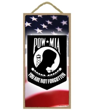 "Military - POW*MIA 10"" x 5"" Plaque"