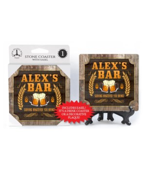 Alex - Personalized Bar coaster - 1-pack