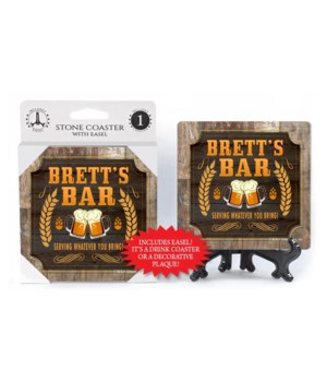 Brett - Personalized Bar coaster - 1-pac