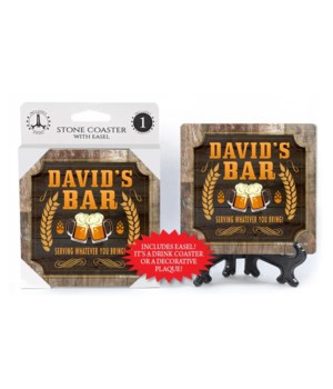 David - Personalized Bar coaster - 1-pac