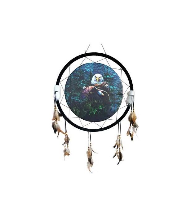 "Dreamcatcher 24"" Eagles/pine woods"
