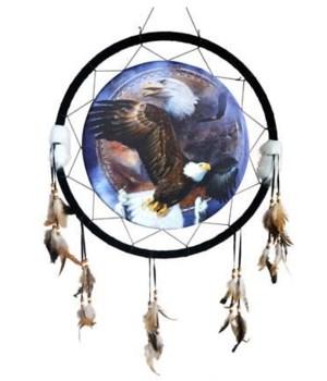 """Dreamcatcher 24"""" Eagles flyin/ d/c bkrd"""