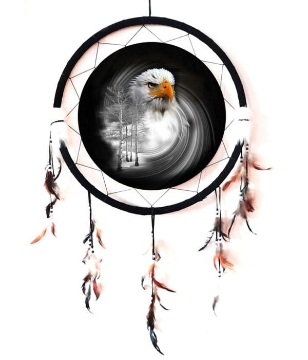 "Dreamcatcher 24"" eagle head / trees"