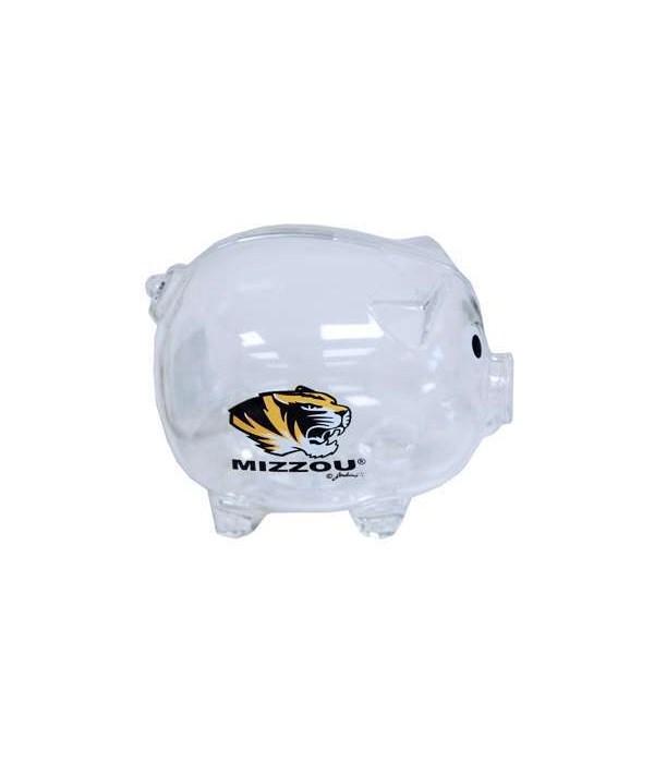U-MO Piggy Bank Clear Plastic 6PC