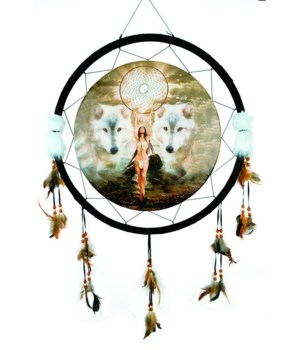 "Dreamcatcher 24"" Wolves/Indian/dream"