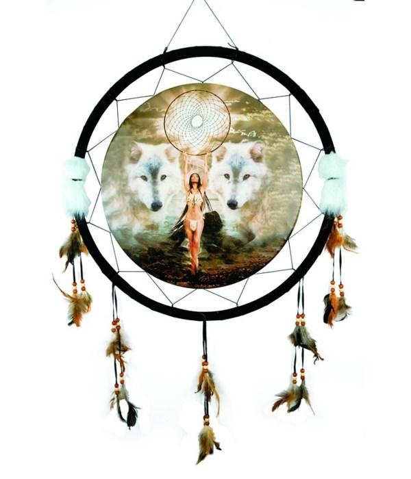 "Dreamcatcher 24"" Wolves/Indian/dream"