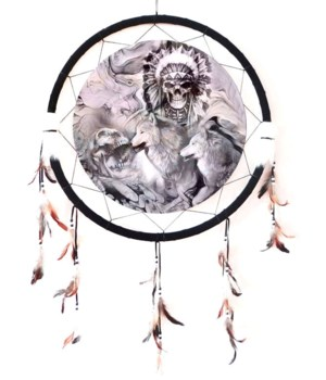 "Dreamcatcher 24"" Wolves/ Skulls"