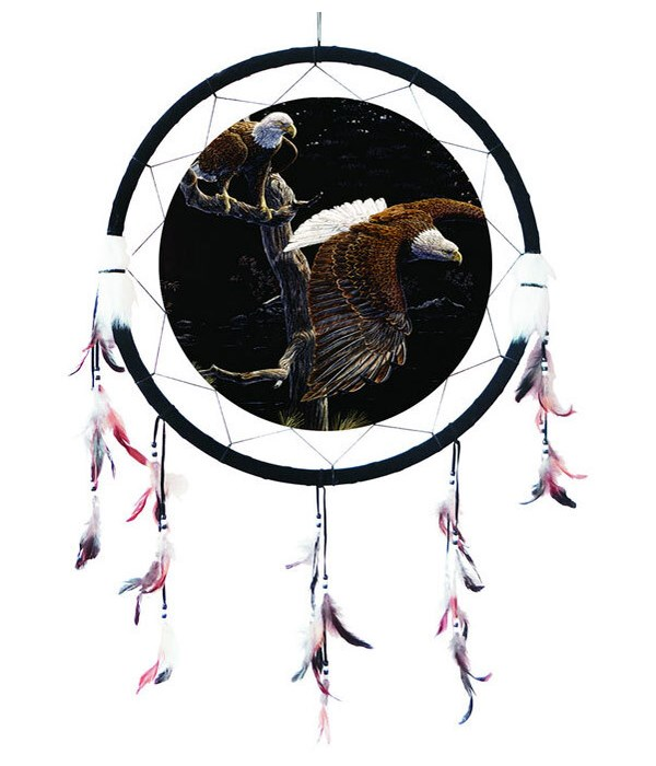"Dreamcatcher 24"" Eagles in flight"