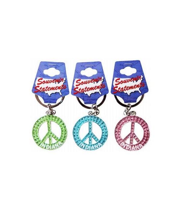 IN Keychain Glitter Peace Symbol