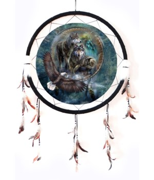 "Dreamcatcher 24"" Wolves / eagle"