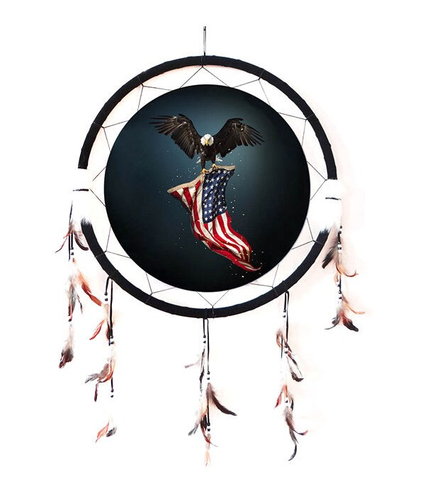 "Dreamcatcher 24"" Eagle w/ USA Flag"