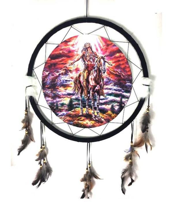 "Dreamcatcher 24""Native Am/ horse/red sky"