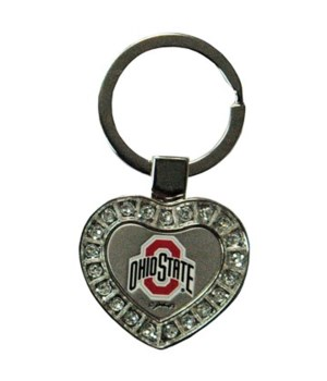 OH-S Keychain Metal Heart