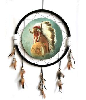 "Dreamcatcher 24"" Indian w/Headress & Shield"