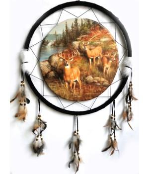 "Dreamcatcher 24"" Deer (3) by Lake"