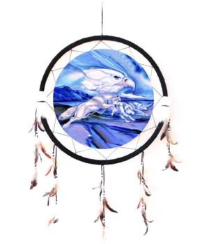 "Dreamcatcher 24"" Wolves (3) & Sky Eagle"