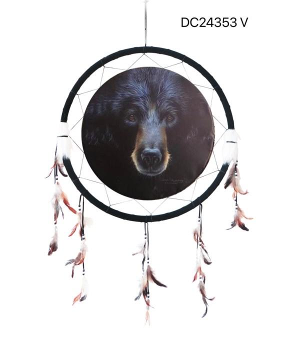"""Dreamcatcher 24"""" Black Bear"""