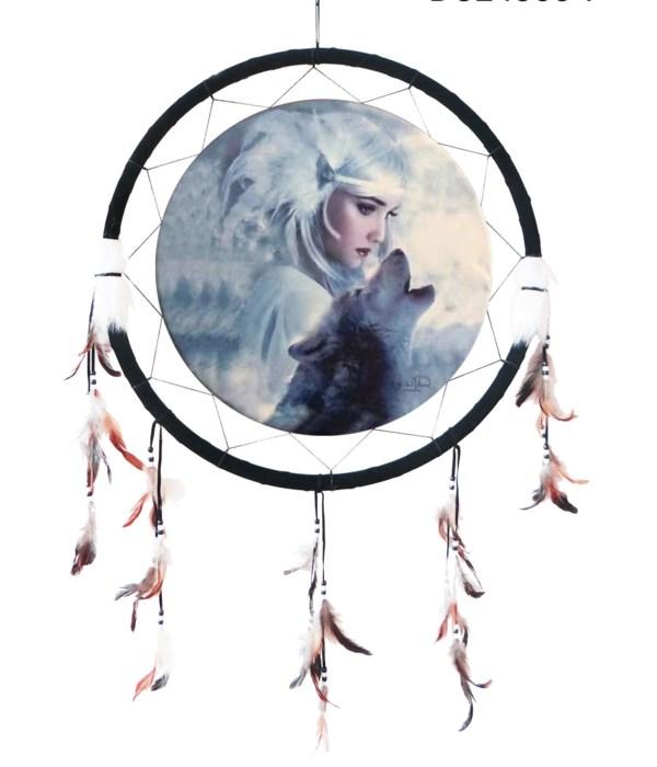 """Dreamcatcher 24"""" Wolf Spirit"""