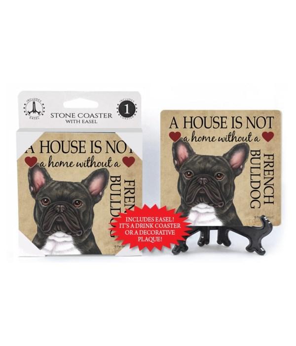 A house  a French Bulldog (Brindle)