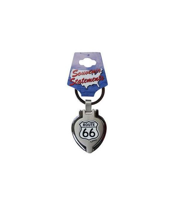 R66 Keychain Metal Heart Locket