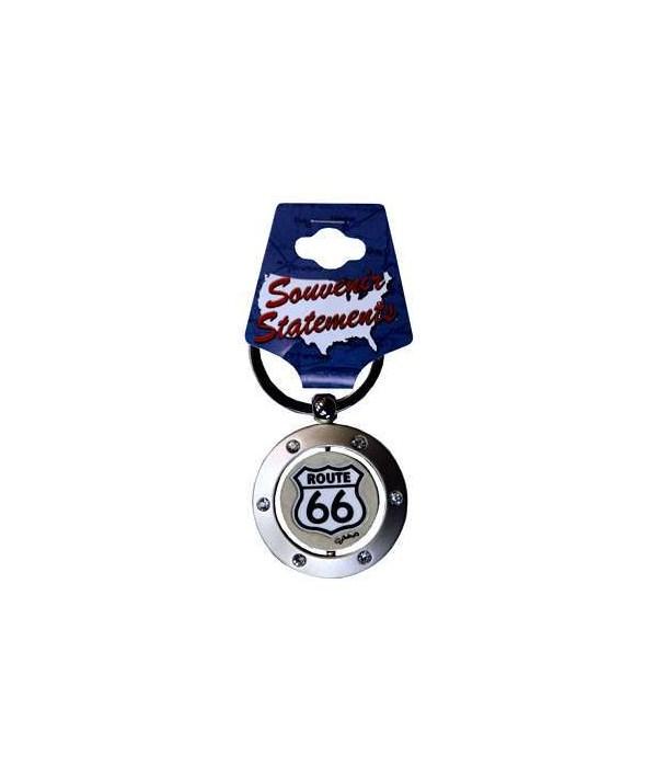 R66 Keychain Spinner Rhinestones