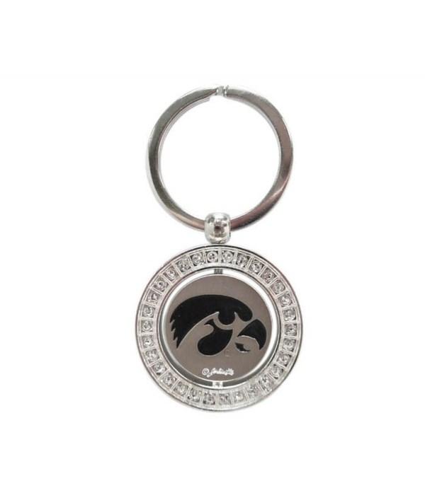 U-IA Keychain Spinner Rhinestones