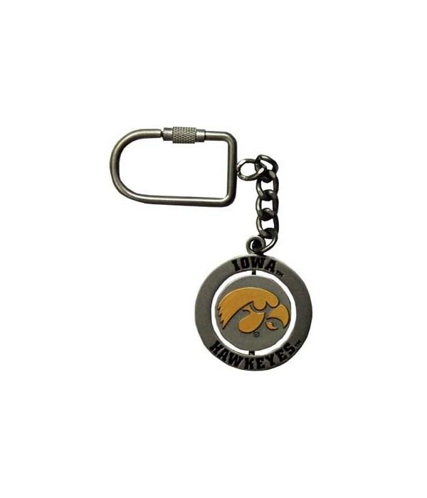 U-IA Keychain Spinner Nickel