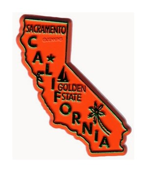CA Bagged Map Magnet
