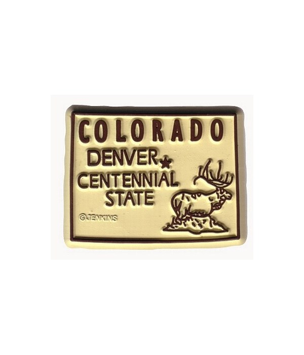 CO Magnet 2D 50 State White