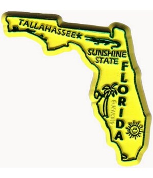 FL Bagged Map Magnet
