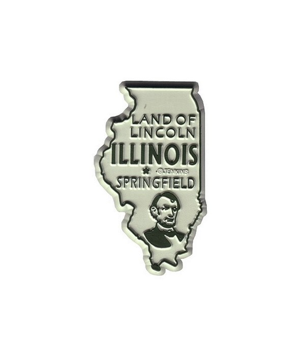 IL Bagged Map Magnet